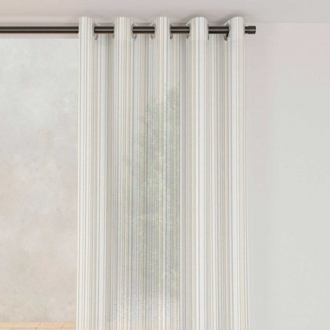 Beige Middle Curtain